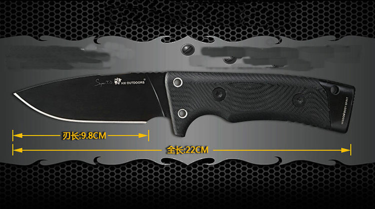 HX OUTDOORS Fixed Blade Knives Hunting knife Tactical D2 Steel Small Straight Knife Essential Outdoor Tool Multi-function EDC pegasi buck 009 fixed blade knife 440c stainless steel outdoor hunting knife survival knives edc tool