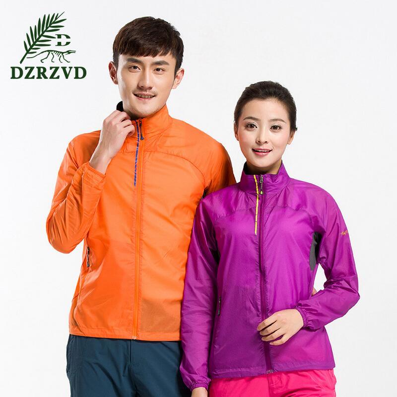 ФОТО Outdoor breathable jacket tracksuit woman Windproof and waterproof jacket Tourism trekking jacket Men Sportswear