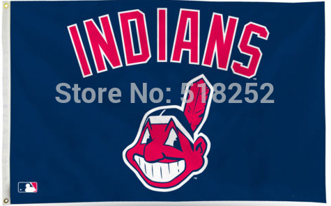 MLB Cleveland Indians Flag 3x5 FT 150X90CM Banner 100D Polyester flag 1061, free shipping