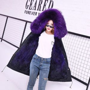 Image 4 - women real racoon dog fur coat