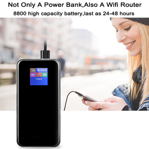 Image 3 - TianJie 4G Router 8800mAh Battery Power Bank 150Mbps Mobile Hotspot Car Wi fi Router 4G/LTE/Sim Card Modem Portable Broadband