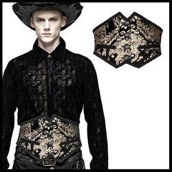 PUNK RAVE Men Gorgeous Court Retro Cummerbunds Embroidered Carved Gothic Girdle Men Stage Perform Cloth Accessories