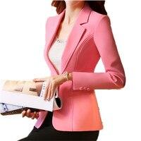 Duy nhất Nút Nghiệp Blazers Suit Coat Blazer Femme Văn Phòng Mặc Giản Dị Áo Khoác Màu Hồng Blazer Feminino Mùa Xuân Áo Khoác S 4XL TT2090