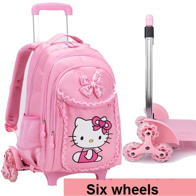 Aliexpress.com   Buy Hello Kitty Trolley School Bags For Girls Cartoon Children  Backpack With Wheels Zaino Scuola Waterproof Mochila Infantil Bolsa from ... 91924dcf2feda