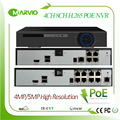 New H.265 / H.264 4ch / 8ch channel 5MP POE NVR CCTV Video Network Recorder No Need Poe Switch P2P Onvif
