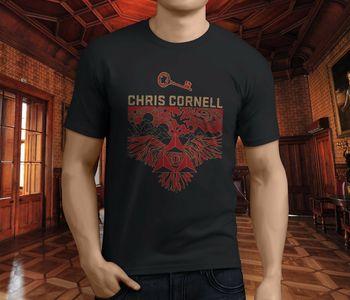 Nuevo Popular Chris Cornel Heavy Metal Grunge Hard Rock hombres camiseta negra S-3XL para hombre Casual o-cuello cómodo camiseta
