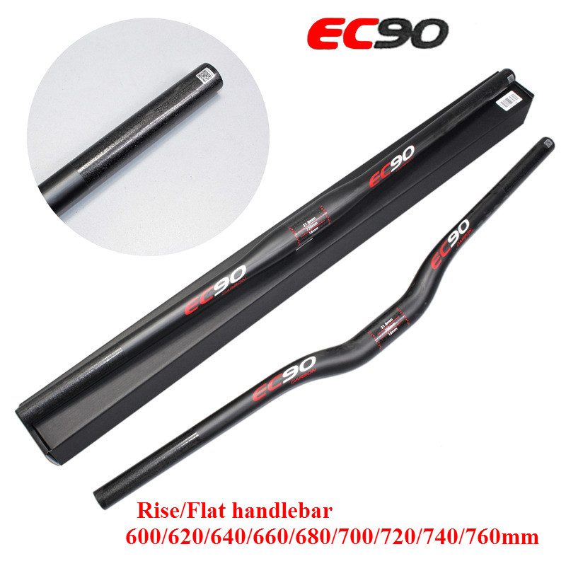 EC90 3K Matt Full Carbon MTB Bicycle handlebar Mountain Flat handle Bike stem