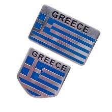 """Алюминиевый сплав флаг Греции эмблема значок автомобиля украшения флаг Греции, футболка с принтом """"автомобиль"""" Fender внешние Стикеры наклейка аксессуары"""