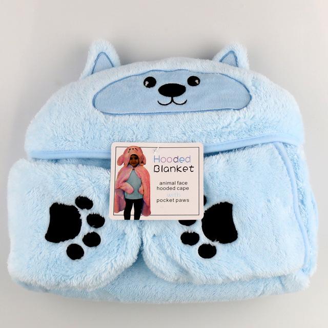 Cama De flanela cobertor Do Bebê Aquecido infantil banho cape Crianças swaddle cobertores do bebê Recém-nascido Luvas manto Desenhos Animados do urso bordado
