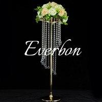 acrylic crystal wedding centerpiece 35 inch tall flower stand Table decor Wedding decoration