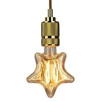 4pcs 40W Retro Village Edison Light E27 Filament Twinkle Star Shape Edison Vintage Bulb AC220V Antique Edison Bulb