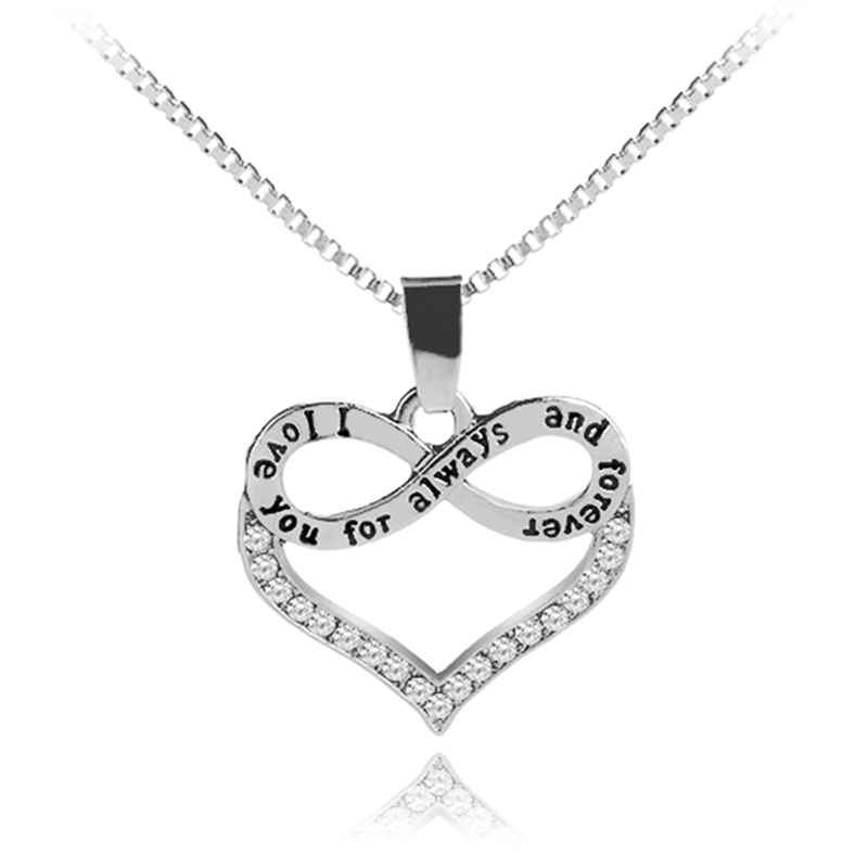 Fashion Jewelry I Love You For Always And Forever Heart ...