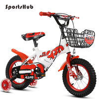 SPORTSHUB 12/14/16/18 Inches Durable Children Bike Cycling Carbon Steels Frame Kid's Bicycle With Flashing Side Wheels O2K0009