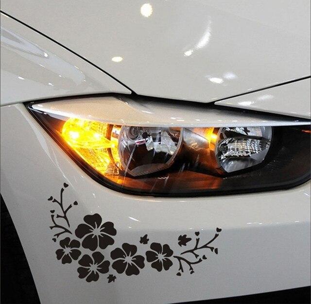 Us 203 9 Offauto Elektronik Aufkleber Zubehör Schwarz Weiße Blume Vinyl Entfernen Auto Dekor Schwarz Auto Aufkleber Aufkleber Fenstergrafiken Auto