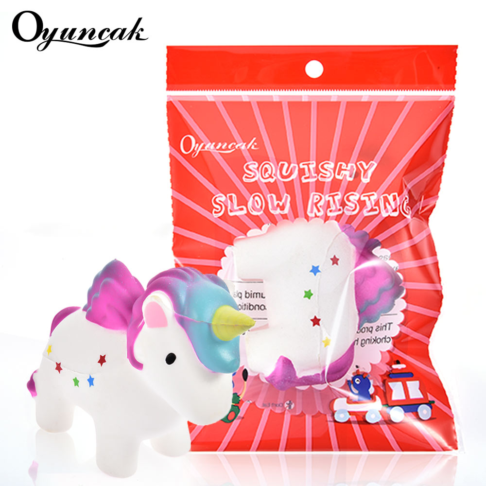 Oyuncak Squishy Novelty Unicorn Horse Jumbo Squishy Stress Relief Toys Anti-stress Gag For Girls Fun Gadget As Gift For Child jumbo squishy brown cow relieve stress toys