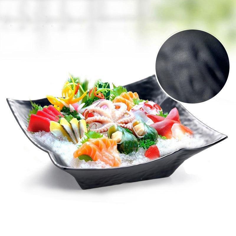 Melamine Dinnerware Black Frost Square Bowl Japanese Restaurant Melamine Dinner Plate KTV Snack Bowl A5 Melamine Tableware in Bowls from Home Garden