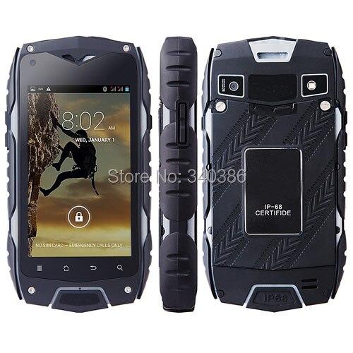Цена за Джип Z6 IP67 Водонепроницаемый Противоударный Пылезащитный Прочный Смартфон Android Dual Core 4.0 3 Г GPS 5.0MP Камера Горячая Продажа Китай телефон