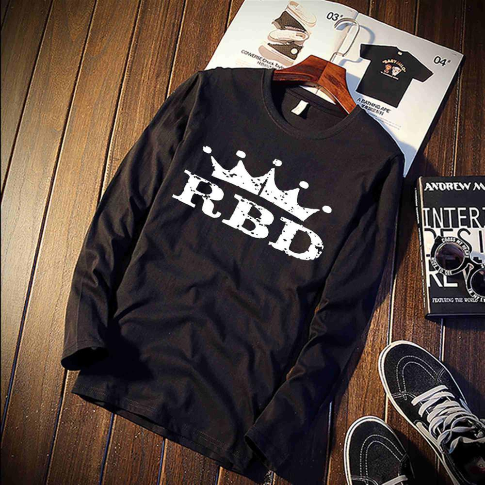 US $7 73 45% OFF|2018 Pure Cotton T Shirt Mexico RBD Aesthetic Printed Long  Sleeve Fashion Casual Tops & Tees Brand Unisex Mexican Style Clothing-in