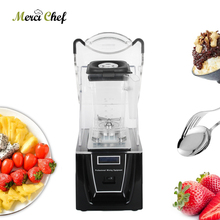 ITOP 1.5L Commercial Smoothie Blender Electric Juicer Mixer White/Black Anti-knock Cover Professional Ice Crusher