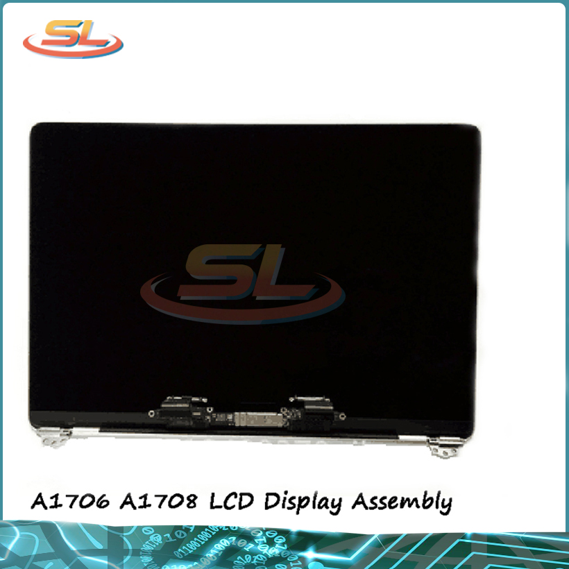Original NEW A1706 A1708 LCDs Grey Silver Color Lcd Display Screen Assembly for MacBook Pro Retina 13.3''
