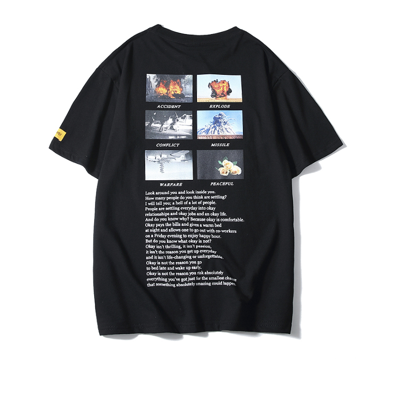 Bebovizi 2019 Summer Men Hiphop Fashion Conflict Print Tshirts Male Streetwear Hip Hop T Shirts Casual Short Sleeve Tops Tees in T Shirts from Men 39 s Clothing