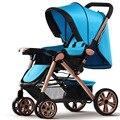 Verão e inverno Carrinho De Bebê Bom Amortecedores de Alta Cadeira 2 Rodas Pneumáticas e 2 EVA Roda Da carruagem de bebê Livre entrega
