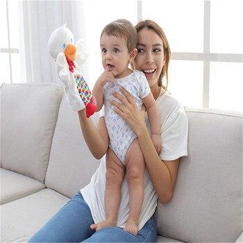 Lindos muñecos de peluche para bebés, juguete de dibujos de animales, mono, Rana, pato, toalla, marionetas de mano, regalo
