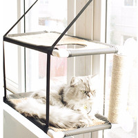 Comfortable Sucker Type Pets Cats Space Saving Hammock Removable Washable Double Layer Hanging Bed Sofa Mat Cushion