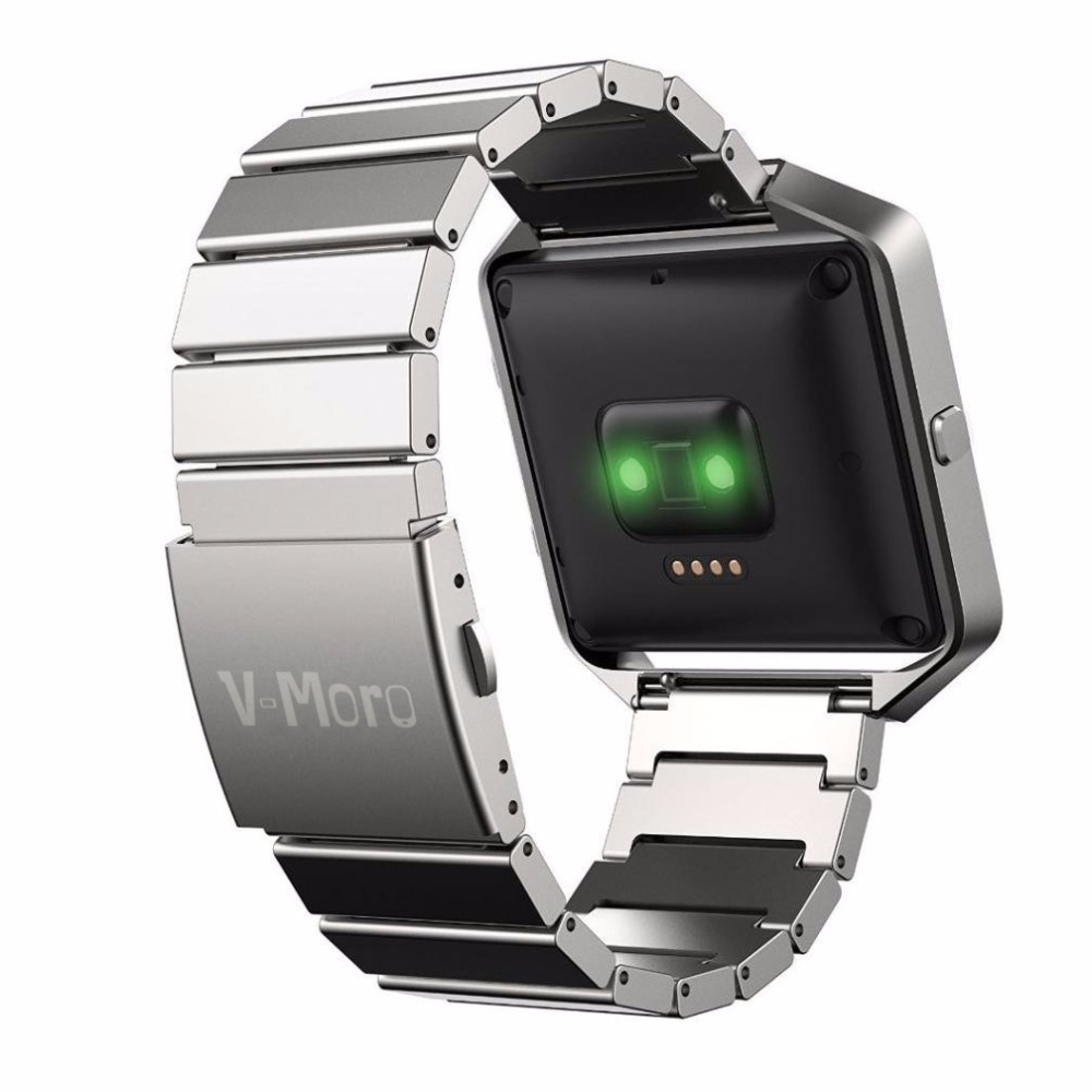 Silver/Black Stainless Steel Original Watch band for Fitbit Blaze Replacement Wrist Band Strap Bracelet for Blaze Smart Watch
