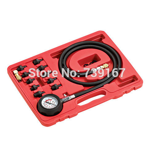 Auto Engine Oil Pressure Diagnostic Tools Car Oil compression Detector Tester Gauge Tool Kit ST0176
