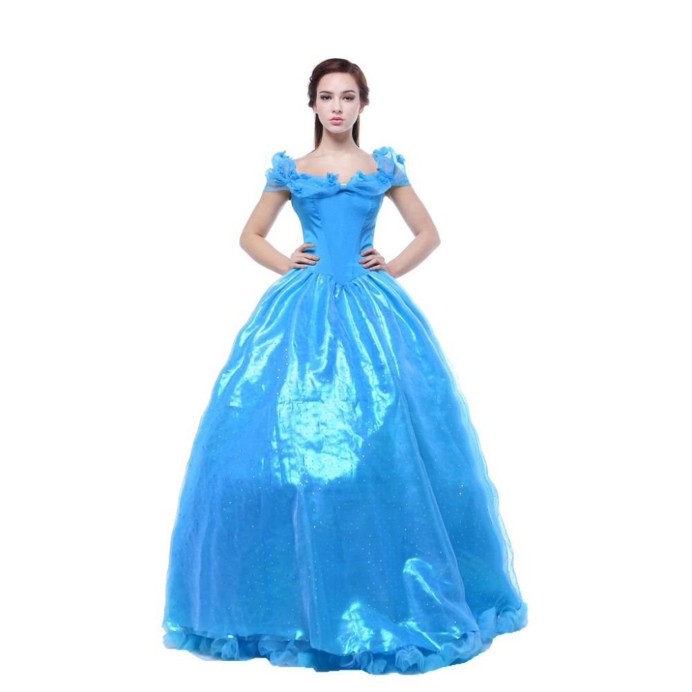 Dress up xl games - Women S Blue Deluxe Cinderella Renaissance Princess Dress Costumes With Slip For Halloween Stage Cinderella Cosplay Size