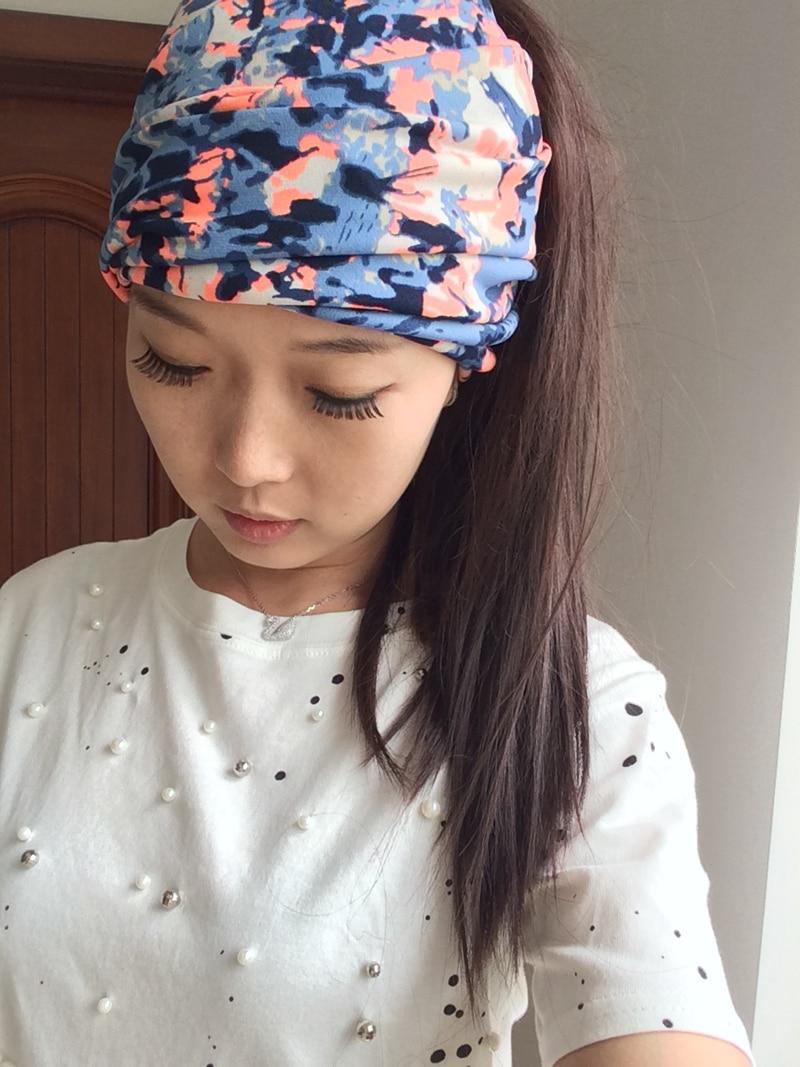 T17502 New Good Stretch 100% Cotton Colors Printed Headbands Fashion Hair Headband For Women Custom Headband