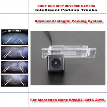 Backup Rear Reverse Camera For Mercedes Benz SMART 2015 2016 / HD 860 * 576 Pixels 580 TV Lines Intelligent Parking Tracks