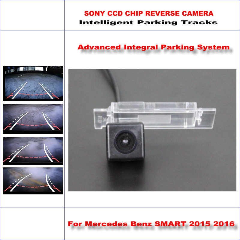 Backup Rear Reverse Camera For Mercedes Benz SMART 2015 2016 / HD 860 * 576 Pixels 580 TV Lines Intelligent Parking Tracks image