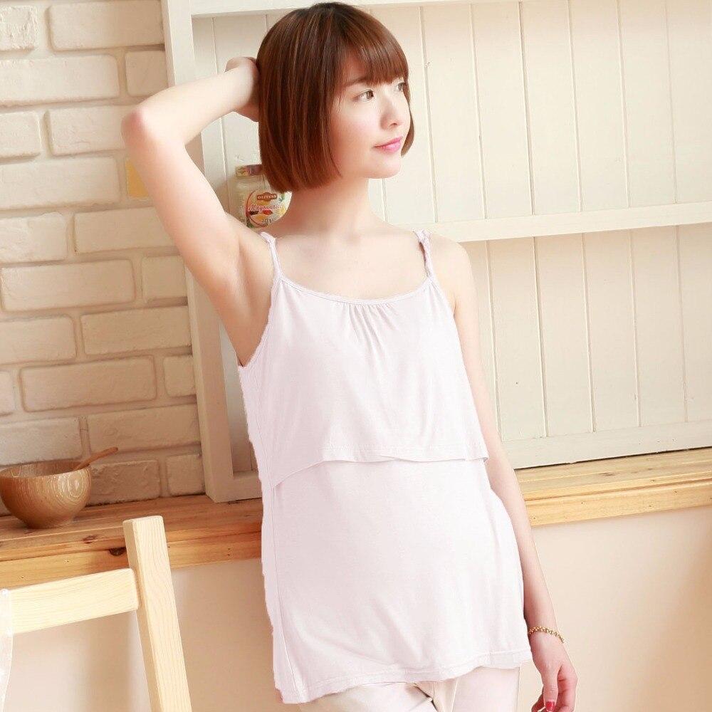 Multi-colour New Maternity Vests Camisole Comfy Pregnant Women Wireless Cami Tank Tops Breast Feeding Top Vest Nursing Underwear