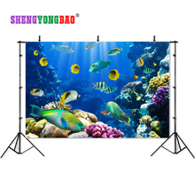 7X5ft  Vinyl Custom Photography Backdrops Prop Deep sea theme Muslin backgrounds HD18