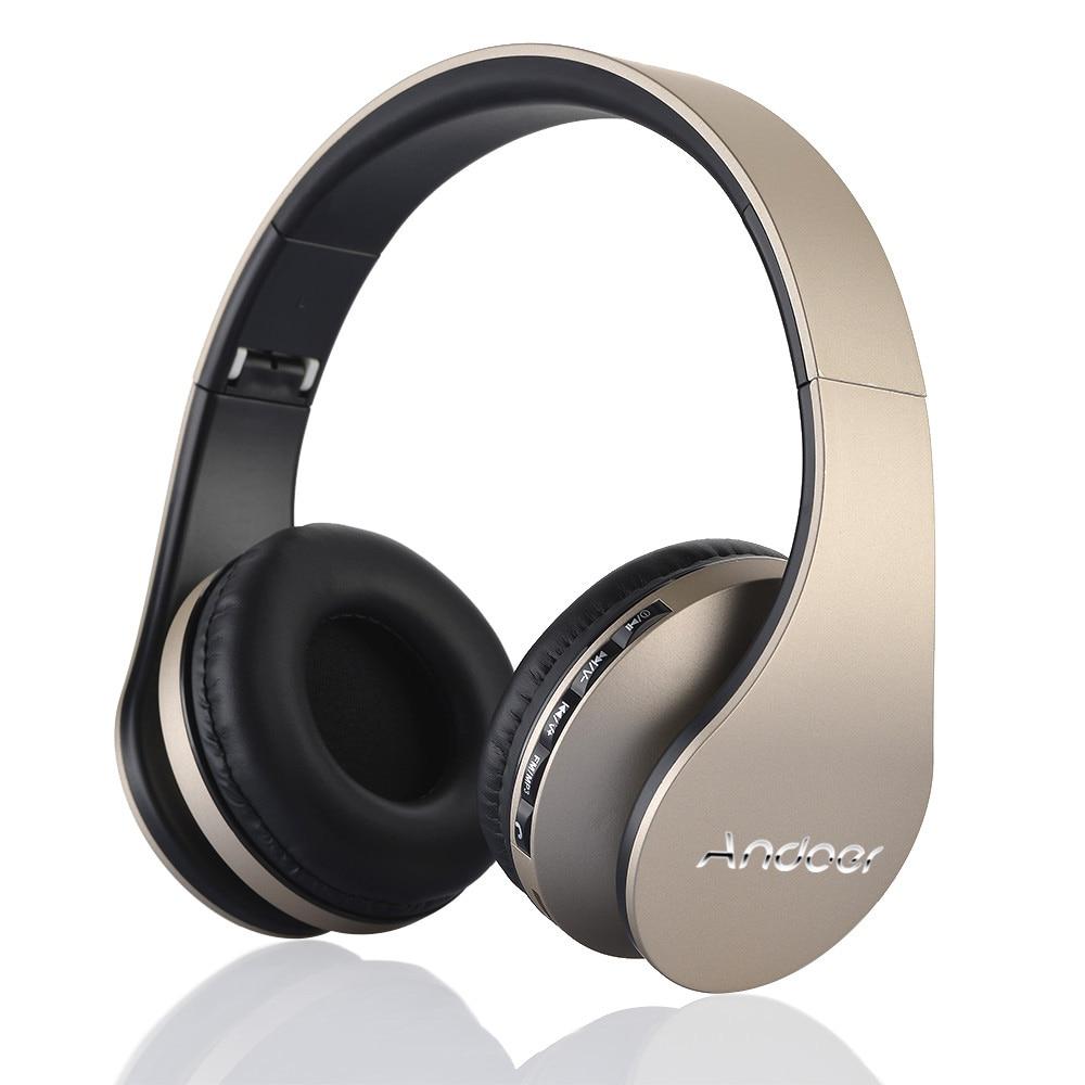 Andoer LH-811 Digital 4 in 1 Wireless Stereo Bluetooth 3.0 + EDR Headphone Headset & Wired Earphone Mic MicroSD/TF FM Radio MP3