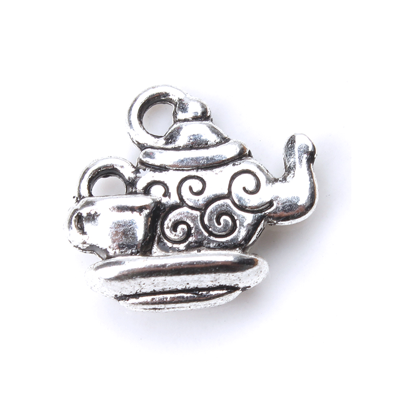 Cup Charm//Pendant Tibetan Antique Silver 14mm  5 Charms Accessory DIY Jewellery