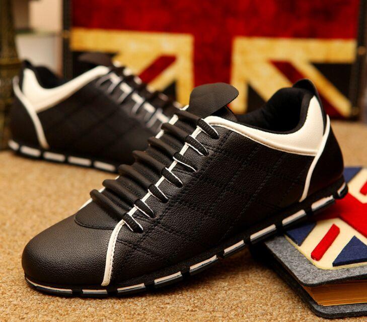 Gerade Große Größe 39-44 Männer Casual Schuhe Mode Leder Schuhe Für Männer Sommer Männer Flache Schuhe