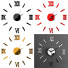 Home Decor Luxury Large Wall Clock Mirror Art Design Wall Sticker-Free Shipping