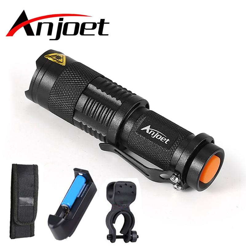 Mini svjetiljka 2000LM Vodootporna LED Svjetiljka Svjetiljka 3 načina zumirati Podesivi Focus Lantern Prijenosni svjetlo koristiti AA ili 14500