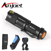 Mini penlight 2000LM Waterproof LED Flashlight Torch 3 Modes zoomable Adjustable Focus Lantern Portable Light use AA or 14500