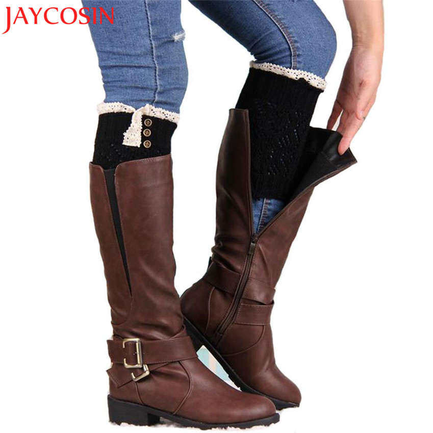 The Clearance Sale!!! Leg Warmers Women Lace Warmers Long Knit Stretch Boot Leg Cuffs Boot Socks Leg Toppers Boot Drop Shipping