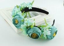 Богемия Красивая невеста Искусственный Цветок свадебные парики DIY корона Цветочные повязка праздничная вечеринка Принцесса оголовье