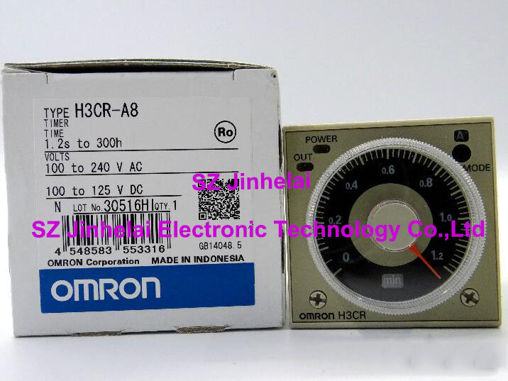 H3CR-A8 New and original  OMRON  TIME RELAY  100-240VAC  24-48VAC/12-48VDC