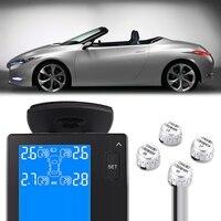 CAREUD U902 Car TPMS LCD Display Car Tire Pressure Monitoring System with 4 Wireless External Sensor Tyre Alarm