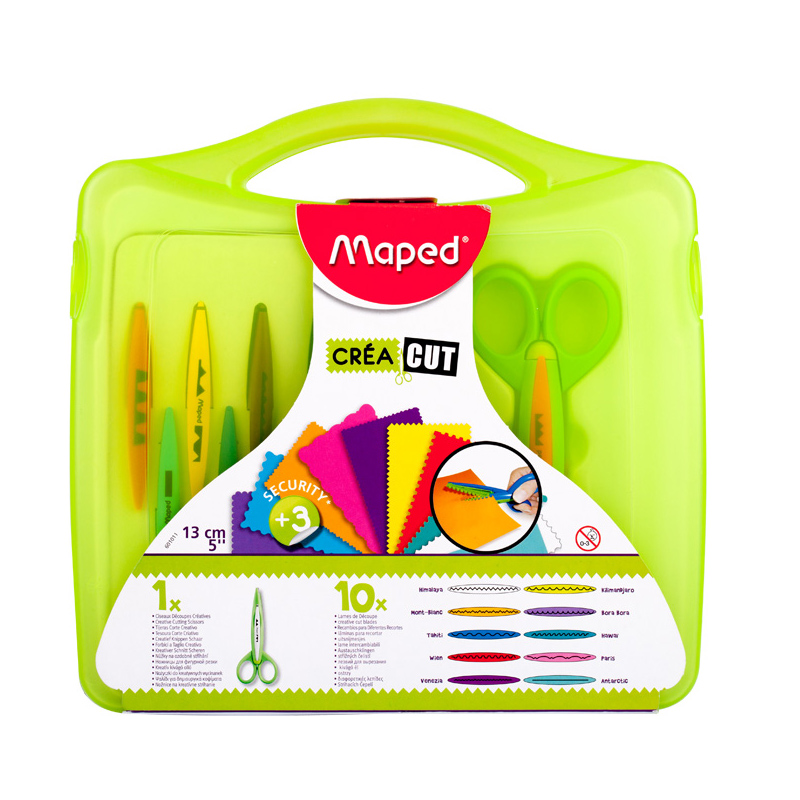 Maped Stationery set lace scissors student child safety manual multi pattern serrated nursery special 601011 fundamentals of physics extended 9th edition international student version with wileyplus set