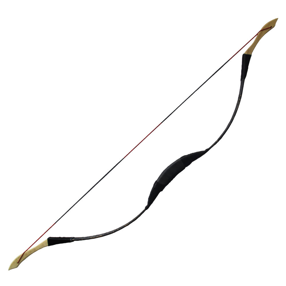 Фотография 30lb Archery Hunting Traditional Black Recurve Bow Leather Handmade Horse Bow