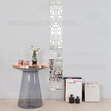 Mirror Wall Stickers Sticker Room Decoration Decor For Home Bedroom Kids Luxury Retro Vintage Frieze Listello Border R023