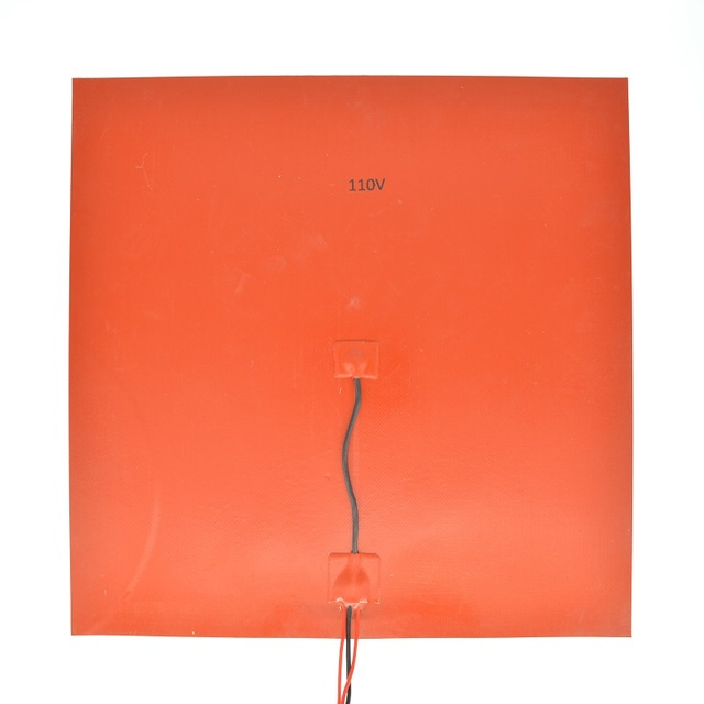 400mm 110V AC 400W Silicone Rubber Flexible Heater Pad With 3M Tape or adhesive on the back